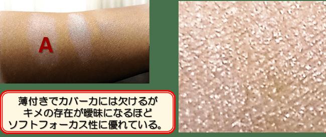 化粧下地の機能性によるぼかし効果の違い(ばかしNo1)