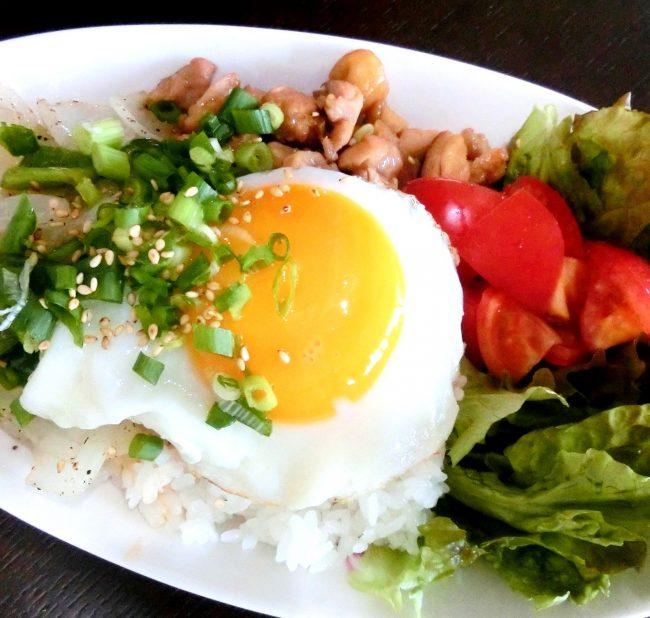 鶏胸肉のオイスターソース炒めカフェ風ワンプレート