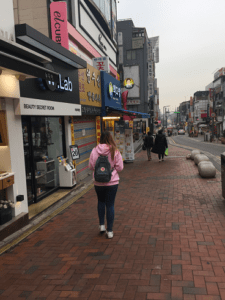 Exploring the streets of Seoul.