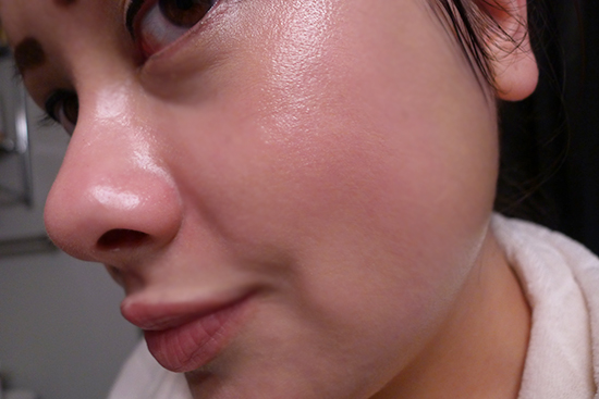After: Minutes after applying Holika Holika Face 2 Change CC Cream in #2, Natural Beige.