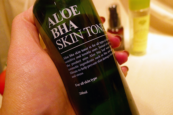 July 2013 Empties Benton Aloe BHA Toner