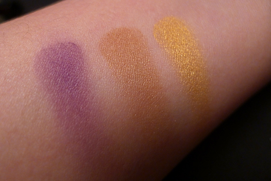 July 2013 Ipsy Glam Bag Review - BH Cosmetics California Collection Eyeshadow Swatch