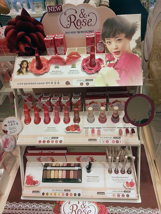 Etude House Rose Collection Display