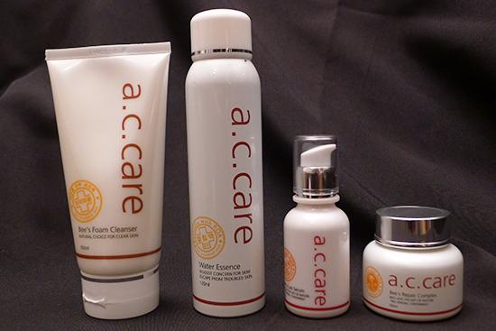 "A.C. Care Skin Repair ""rapid skin cure"" range"