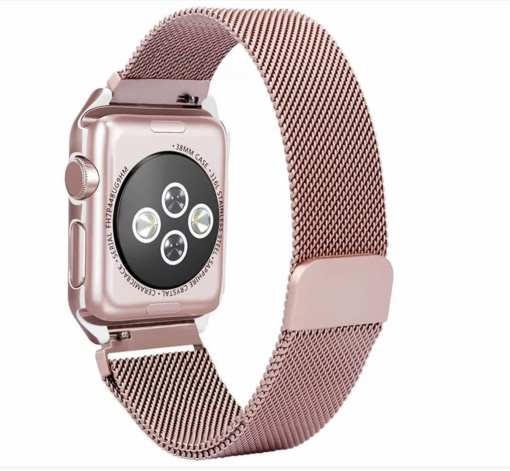 3A8B0CCD 628E 41B6 A840 C94E48BC6469 Apple Watch: Stainless Steel Magnetic Strap for Apple Watch Milanese Series 4 3 2 1