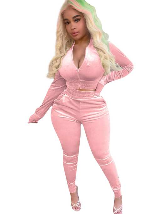 Comfortable 2 Piece Outfits With Pocket Female Grace