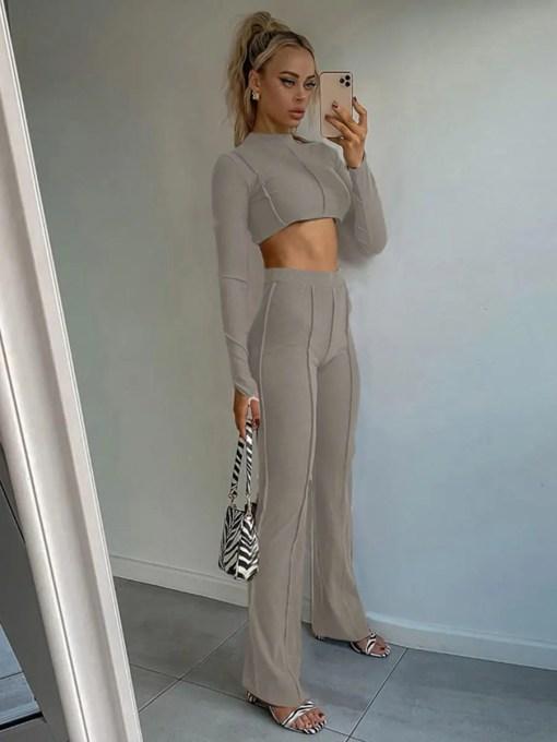 Comfortable Women Suit Full Sleeve Straight Leg Trendy