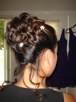 Bridesmaid hair - Jennifer