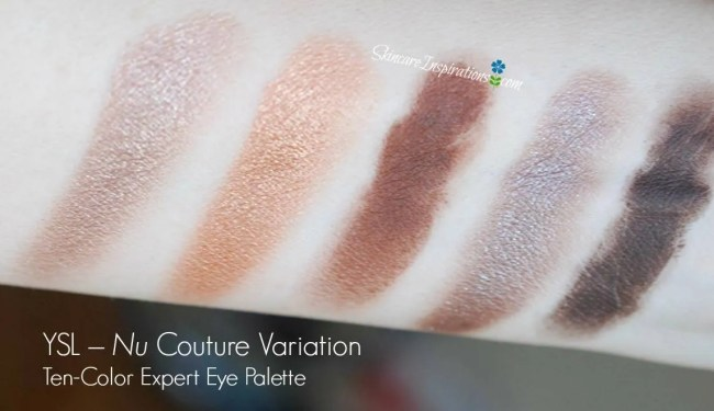 YSL Nu Couture Variation Ten-Color Expert Eye Palette swatches