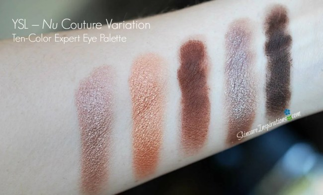 YSL- Nu Eyeshadow Palette swatches