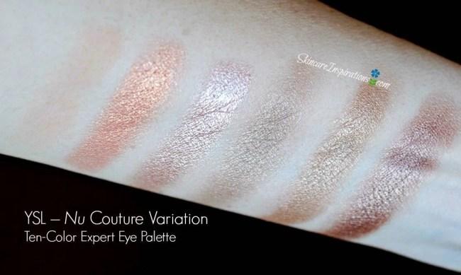 YSL- Nude Eyeshadow Palette swatches