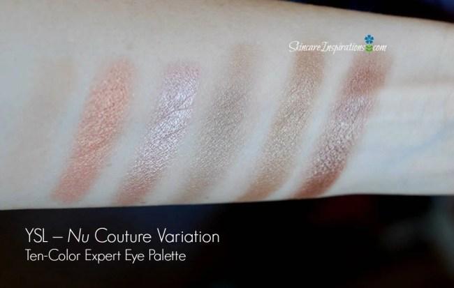 8. YSL- Nude Eyeshadow Palette swatches
