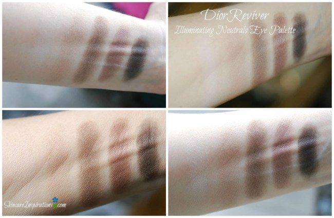 2. Dior eye reviver swatches