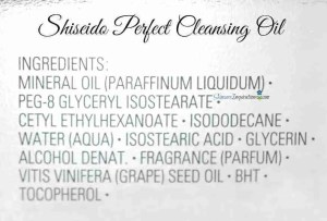 SHiseido Perfect Cleansing Oil INCI