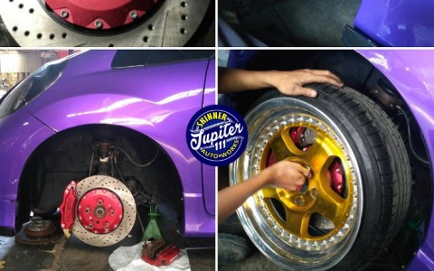 Installasi Big Brake Kit ( BBK ) di Honda Jazz GE8 - Car Detailing Works