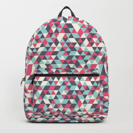 retro triangles backpacks