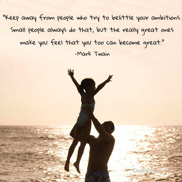 Mark Twain Image Quote-You Can Be Great
