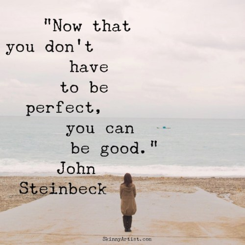 You don't have to be perfect--just be good John Steinbeck