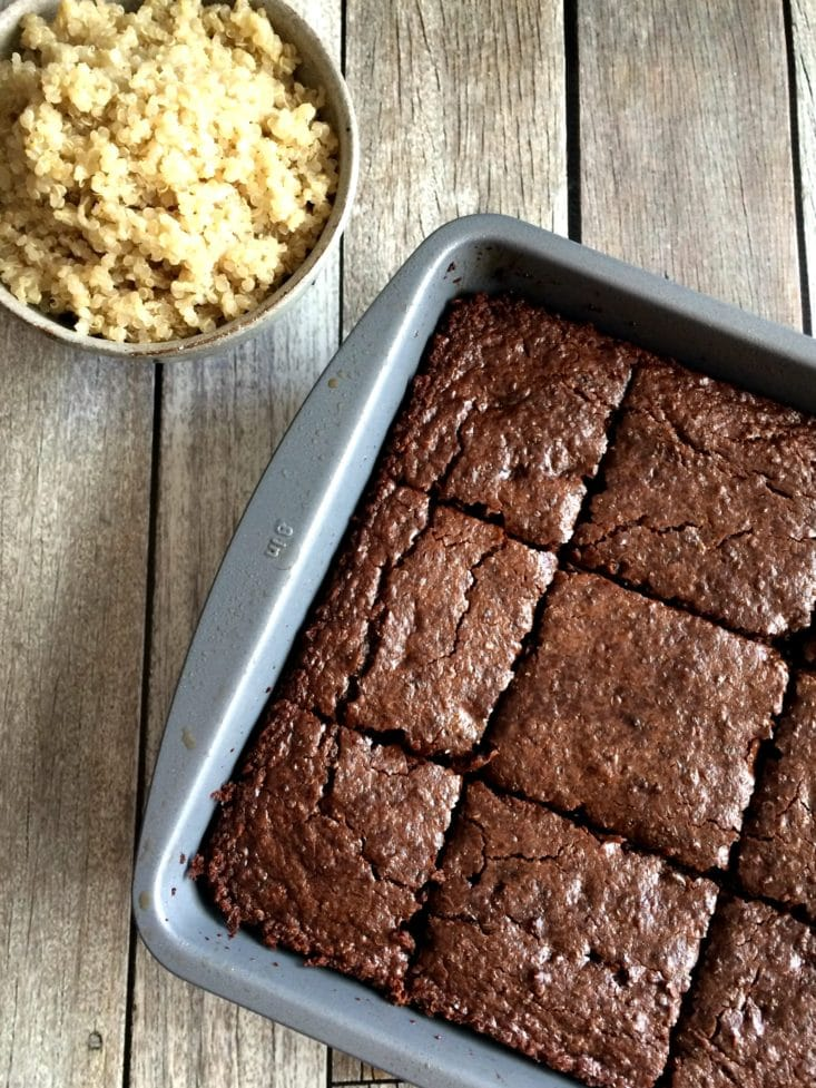 Double Chocolate Quinoa Brownies {Vegan, GF}