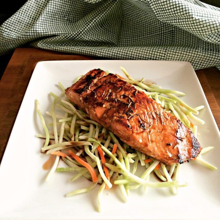 Salmon With Balsamic Rosemary Glaze {gf, Paleo, Low Cal} Salmon With  Balsamic Best Salmon Recipe: