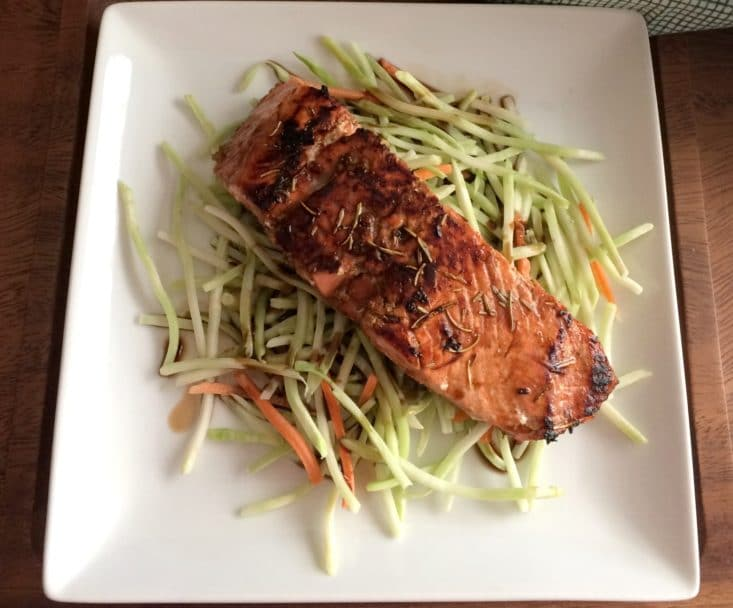 Salmon With Balsamic Rosemary Glaze {gf, Paleo, Low Cal} Skinny  Balsamicglazed Salmon How To Cook