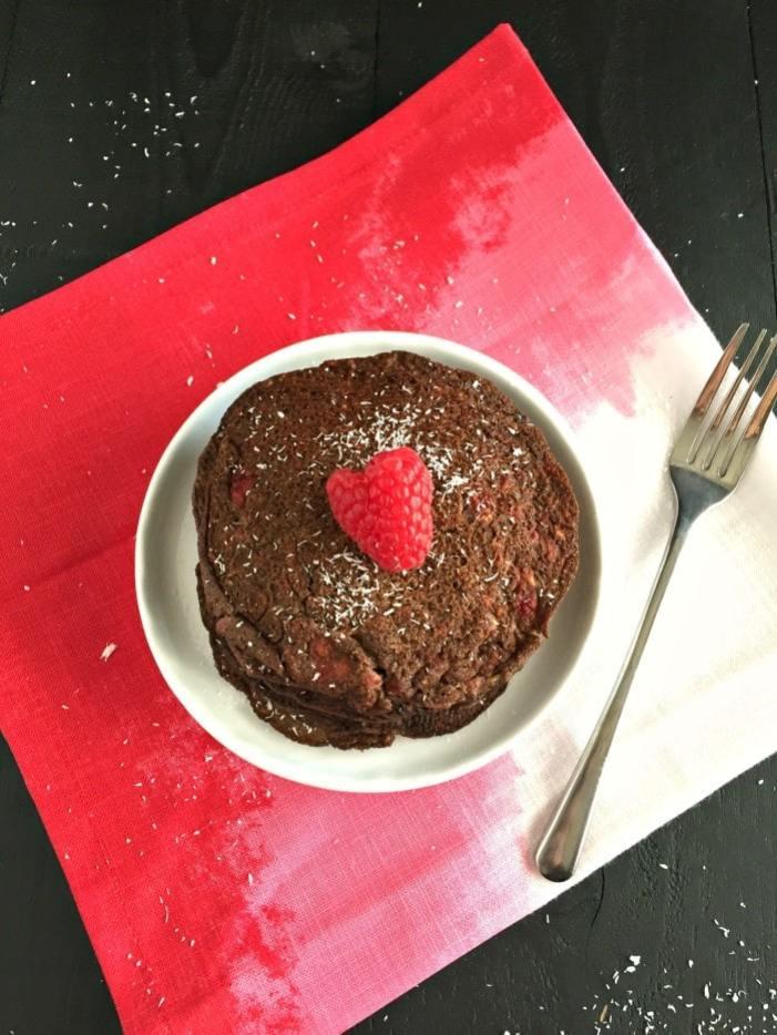 Raspberry Buckwheat Chocoholic Pancakes