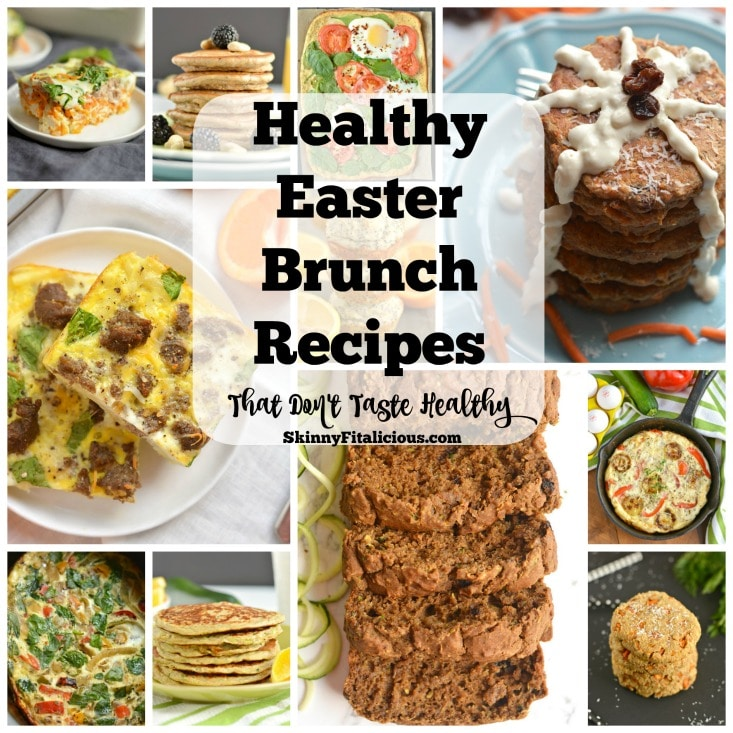 Make meal planning easy with these Healthy Easter Brunch Recipes to entertain family and guests that don't taste healthy and don't take a lot of work!