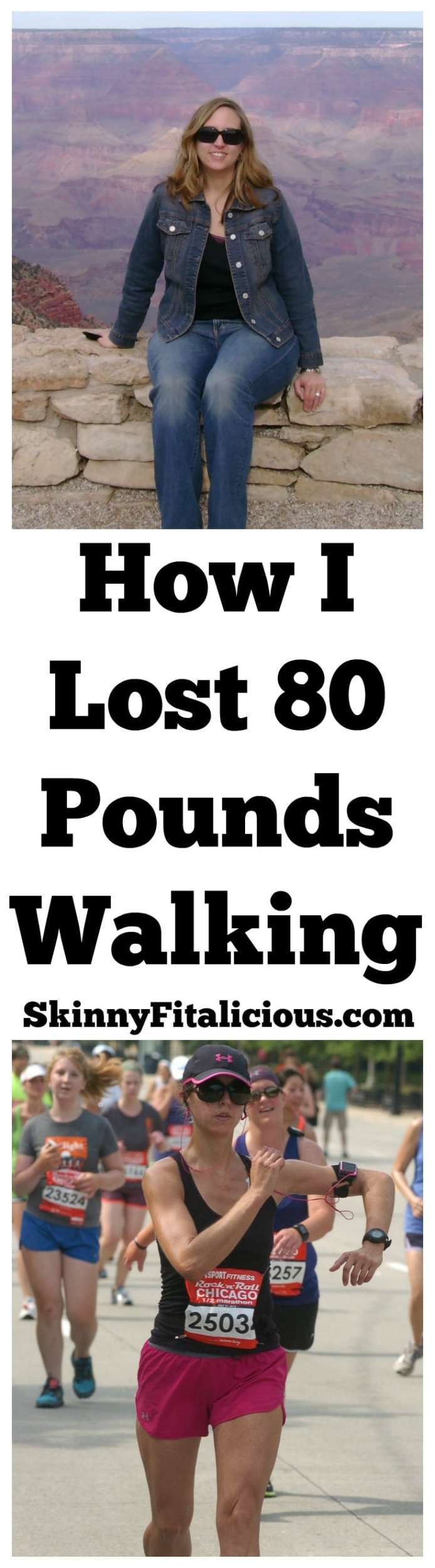 One day I started walking and that one day changed my life. Over the course of a year, I lost weight walking daily. Here's How I Lost 80 Pounds Walking.