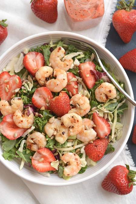Shrimp Strawberry Poppyseed Salad