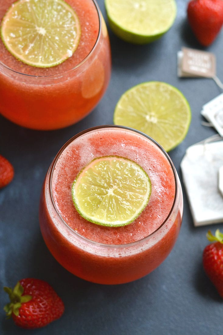 Strawberry Green Tea {GF, Low Cal, Paleo, Vegan}