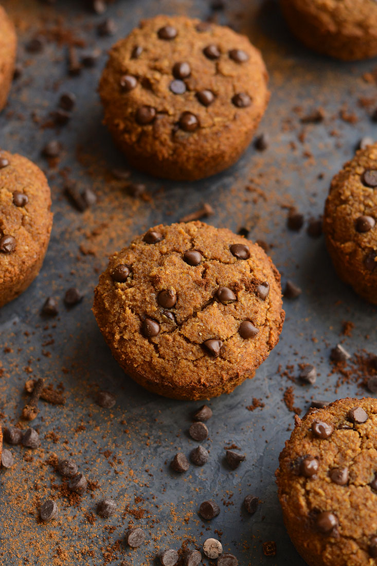 Paleo Almond Flour Pumpkin Muffins spiced with fall flavors and lightly sweetened. These muffins are soft, fluffy, quick to make and delicious! Make a batch for the week and setup yourself up with a healthy treat!