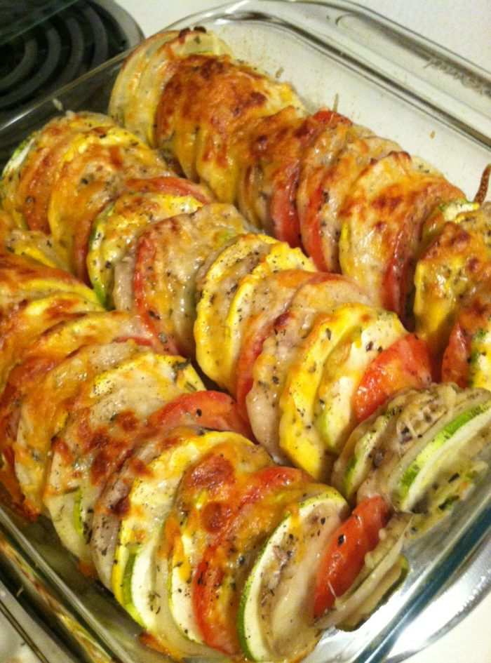 "Tomato-Potato-Zuchinni-Summer Squash ""Casserole"""
