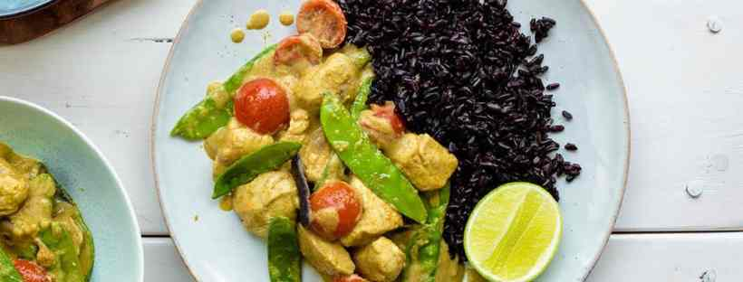 CASHEW CHICKEN CURRY & BLACK RICE