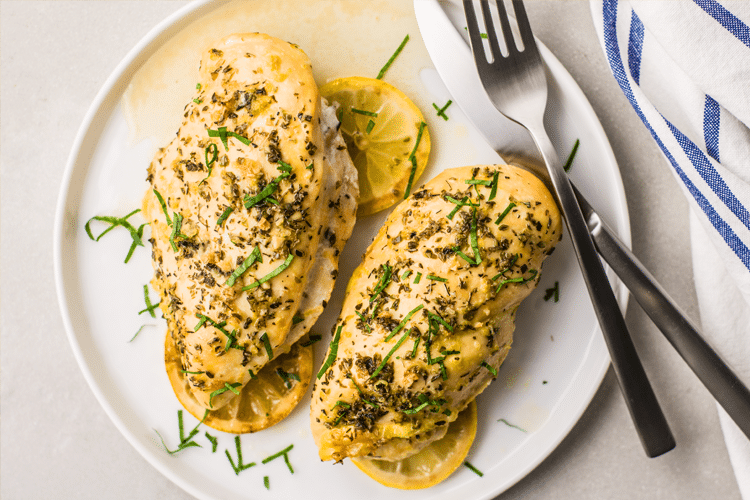 This Greek lemon chicken requires only 8-ingredients