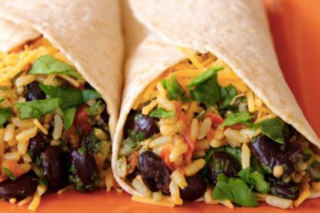 Spinach & Bean Burrito Wrap