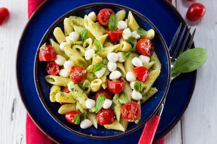Pasta Salad With Pesto Mozzarella And Tomatoes
