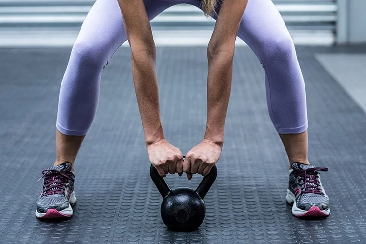 A kettle bell is suitable for both strength training and cardiovascular endurance.