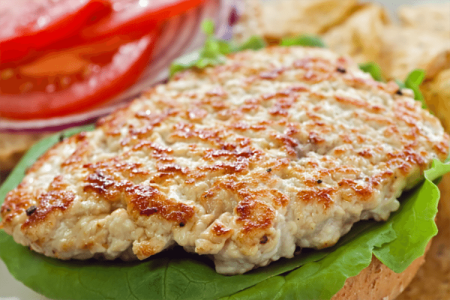 Open Face Grilled Turkey Burgers