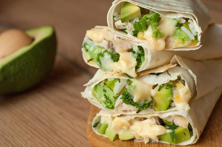 Healthy Chicken Burrito Wraps