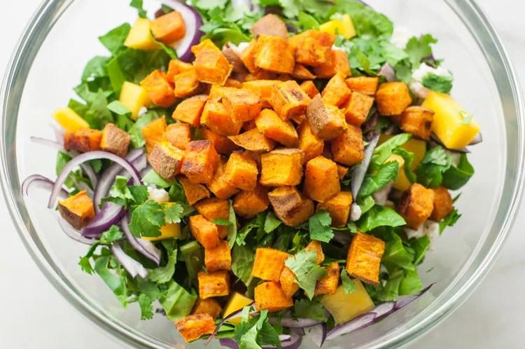 Curry sweet potato salad
