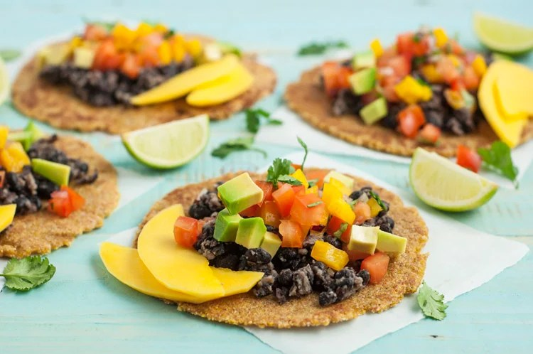 While these mango and black bean tacos are gluten-free, they certainly don't lack flavor!