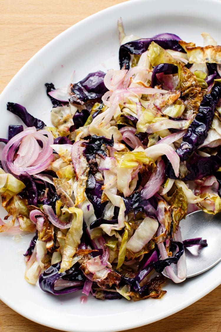 Sweet and sour cabbage goes well with various starters.