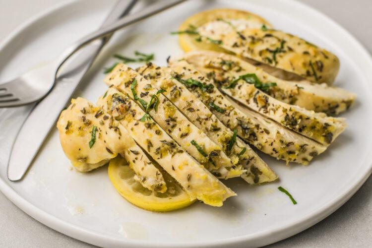 Slow Cooker Greek Lemon Chicken is a super easy, hassle free meal!