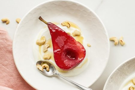 5-Ingredient Slow Cooker Spiced Poached Pears