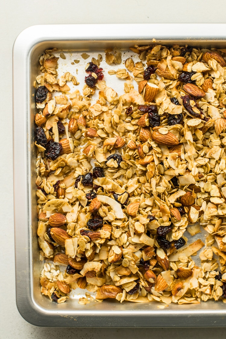 Muesli makes a great snack or an egg-free breakfast.