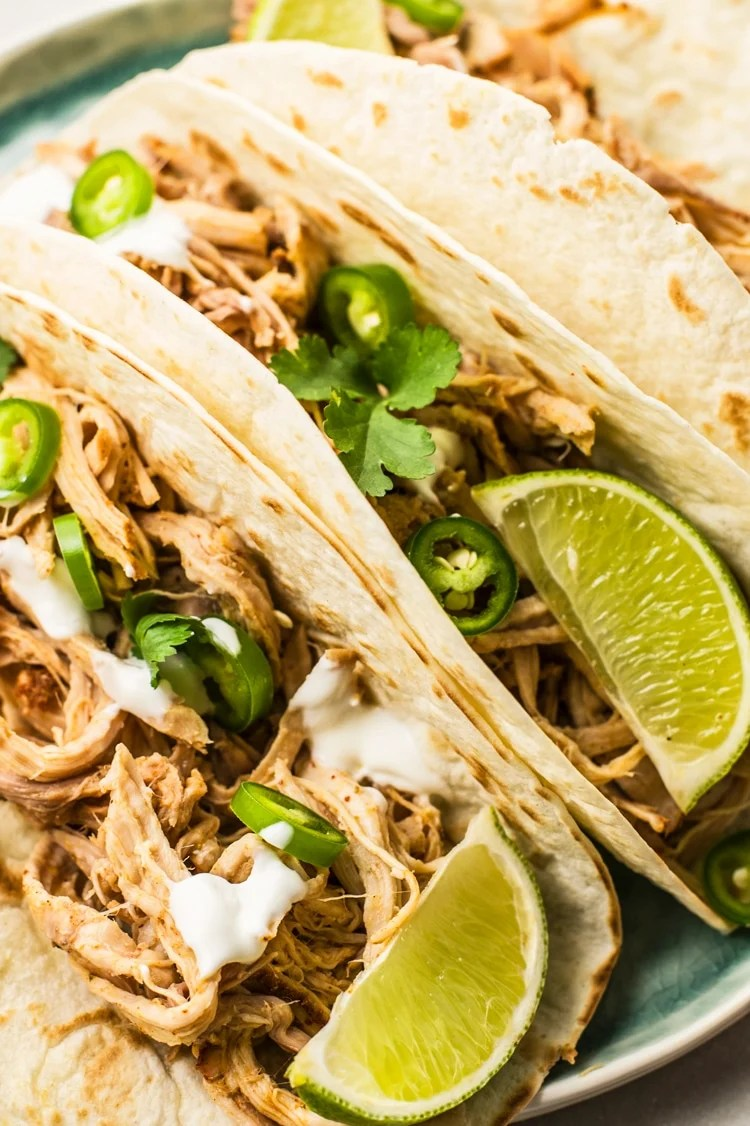 These slow cooker pork carnitas melt in your mouth!