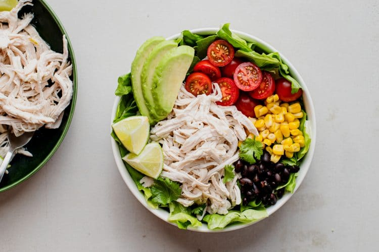 Make a nice taco bowl with this yummy lime chicken!