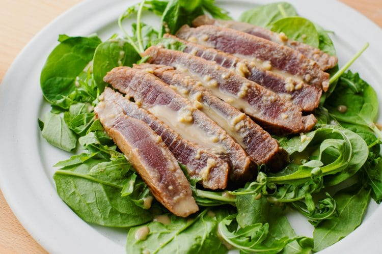 Our fried tuna with wasabi cream sauce is a delicious, protein-rich lunch or dinner.