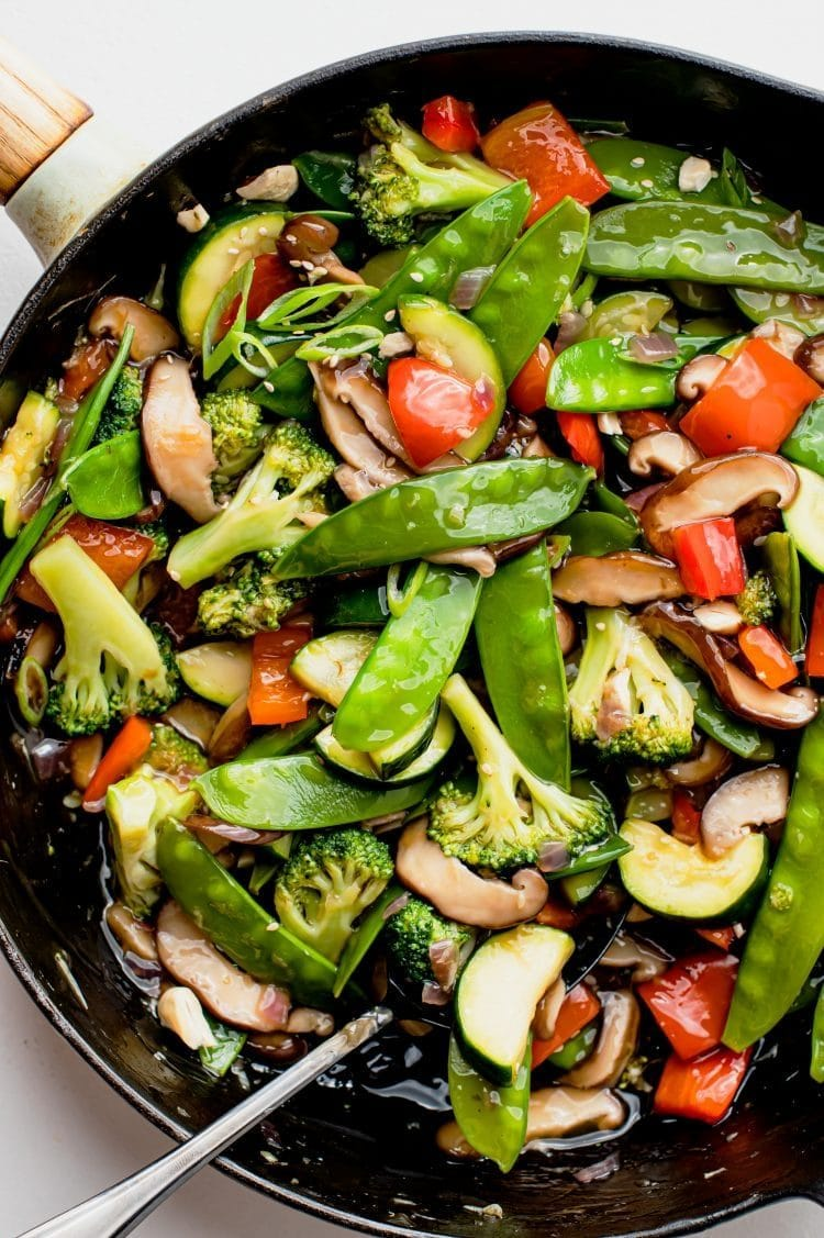 This stir-fry is vegan-friendly and filled with healthy and delicious veggies that will keep you full for hours!