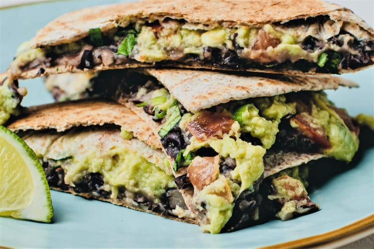 Black beans and avocados together make a delicious and filling snack or meal!